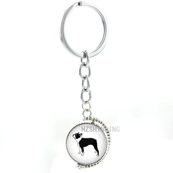 NEW I Love My COLLIE Key Chain Ring w Spinner or Purse Charm Collectible CUTE