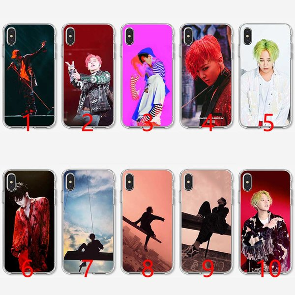 Bigbang G Dargon Soft Silicone TPU Phone Case for iPhone 5 5S SE 6 6S 7 8 Plus X XR XS Max Cover