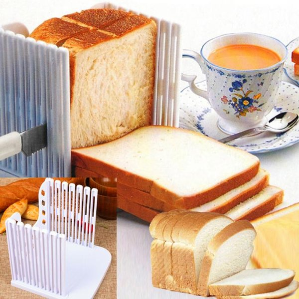 Bread Slicer Cutting Guide Tools Plastic Splicing Toast Loaf Cutter Rack Slicing Kitchen Accessories Tool