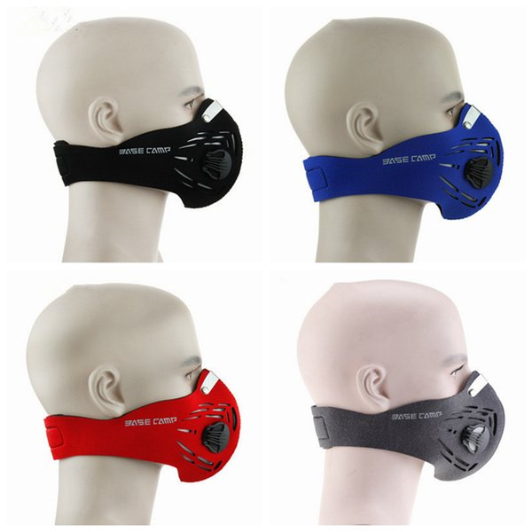 Máscara antiniebla contra el polvo bicicleta de montar al aire libre máscara protectora de esquí media máscara máscara filtro 4 colores LJJZ490