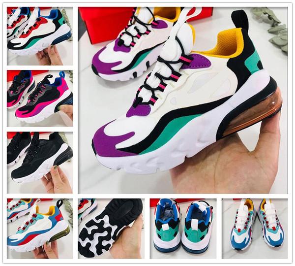 kids boy girl Bauhaus React big Women Men Running Shoes OPTICAL HYPER JADE PINK GREY ORANGE HUES cushion Mens Trainers Sports Sneakers
