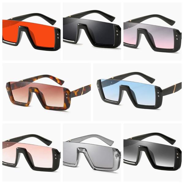 3e0608ca97 8 colores de gafas de sol de medio marco personalizadas Gafas de sol unisex  de moda Gafas de sol cuadradas de moda Gafas de protección solar para niños  ...