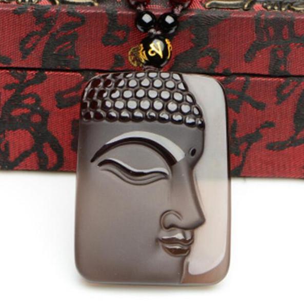 Peace pendant pendant jade ice ice obsidian big day as the side face Buddha brand