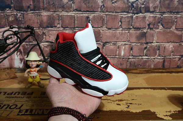 kids Top Quality New J13 13s Bred Chi Flight XIII Basketball Shoes He Got Game Melo DMP Toe Hyper Royal Designe Sneakers
