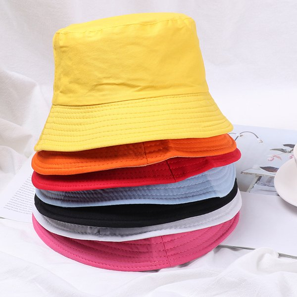 1pc summer foldable bucket hat women kids outdoor sunscreen cotton fishing hunting cap men basin chapeau sun prevent hats thumbnail