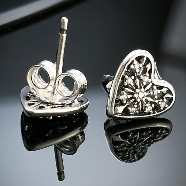 2019 Pop High Uspecial Real 925 Silver Love Heart Earrings For