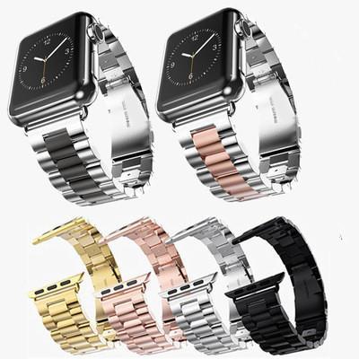 Correa de acero inoxidable para Apple Watch Band Link Pulsera 38mm 42mm Banda de reloj SmartWatch Banda de metal para iWatch Series 4 3 2 1