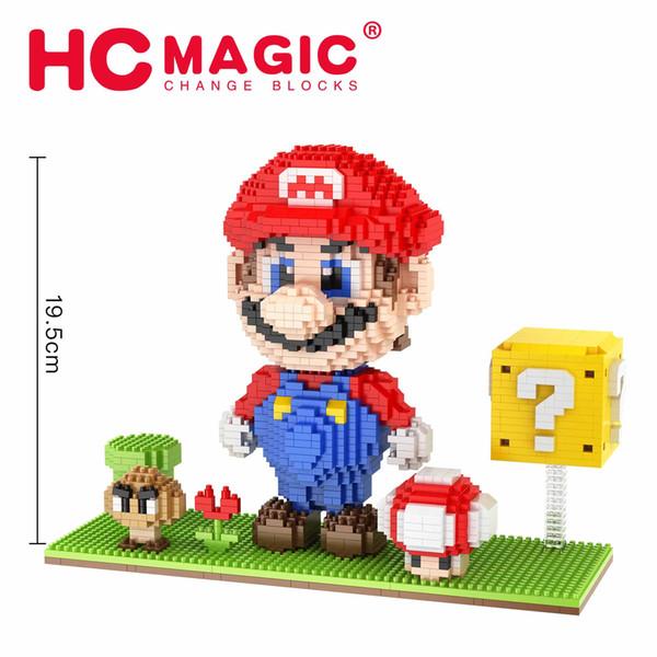 Diy tamaño grande diamante gránulo super mario bloques bloques micro bloques de construcción juguetes de dibujos animados lindo niños niñas subasta figuras niños regalos