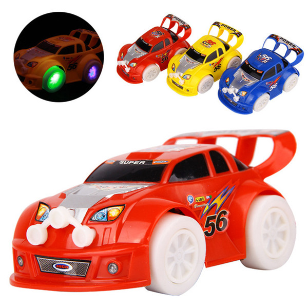 LED Car Toys LED Lighted Toys Cute Cars Different Color Kids Christmas Gift Race Car Model Lighting Play Music Kids Playing Safety Toy B11