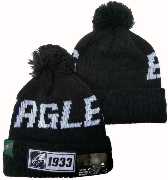 best selling HOT SALE Eagles Beanies Winter hat beanie High Quality Men Women Skull Cap Pomp Skullies Script Cuffed Knit Hat with Pom