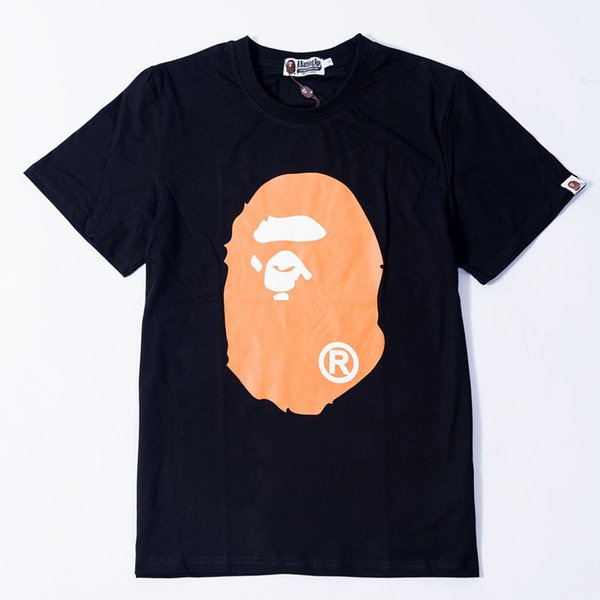 2019 New Bape Designer T-Shirt Bape Herren Designer T-Shirt Schwarz Weiß Männer Frauen Hip Hop Tees M-2XL