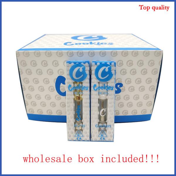 Pyrex Glass Tank empty vape Cookies Carros Vaporizador 0.8 1.0ml vape pen Atomizador E cig Envase de galletas Best Taste
