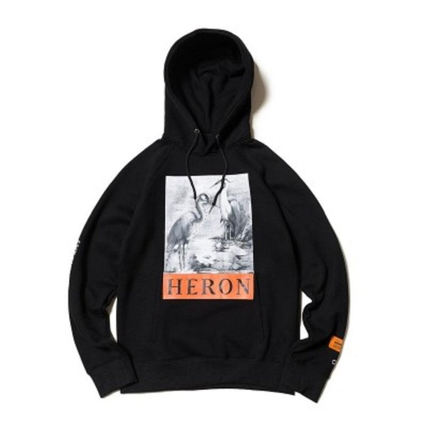 19SS Crane HP Lotus Printed Men's and Women's Fashion Street Euro-American Chao Brand Cotton Hat and Sanitary Clothes