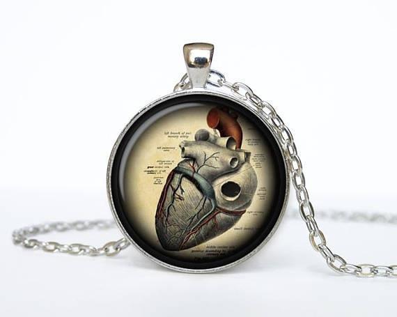 Collar del día de San Valentín Corazón joyas corazón corazón vintage corazón para las mujeres regalo para su collar hecho a mano regalo idea joyería dama de honor