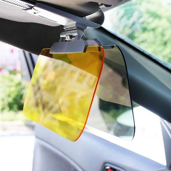 Day Night Anti-abbagliamento Auto Parasole Visiera HD Occhiali abbaglianti Specchio guida UV Fold Flip Down HD per Visiera trasparente