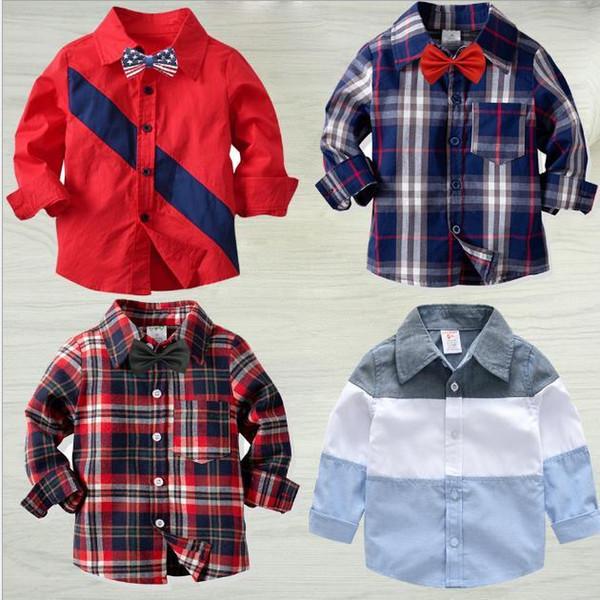 Camisa de manga larga de algodón puro para niños Camisa abierta de primavera y otoño del bebé Sulanger Camisa de manga larga 90-140