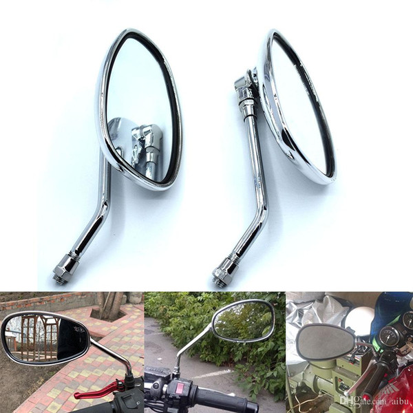 Motorcycle Rearview 8MM/&10MM Universal Rear View Handle Bar End Side Mirrors USA