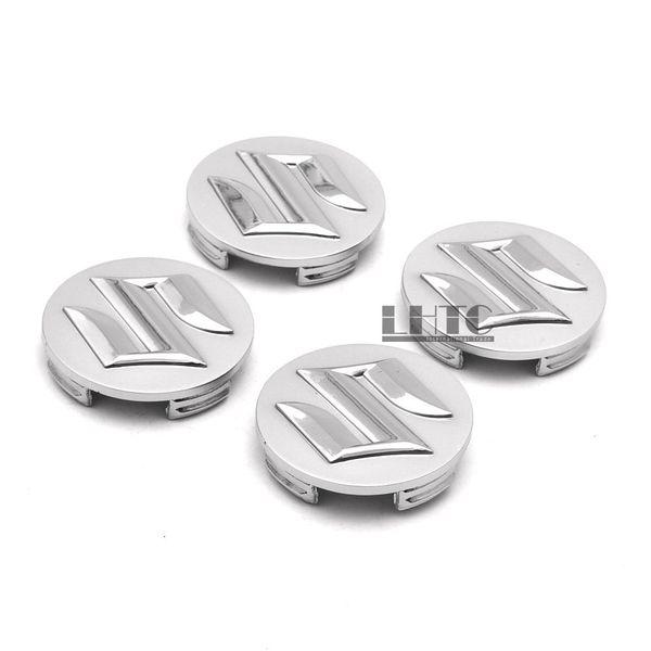 4 pezzi 54mm argento centro del mozzo ruota Caps Block Covers Emblem per Suzuki Swift SX4
