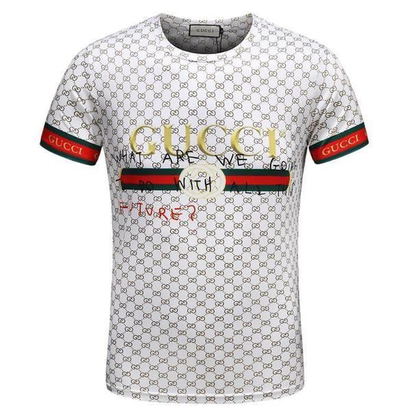 Marque Patchwork Et Broderie Conception POLO T Shirt Hommes 100% Coton À Manches Courtes De Mode Top Tees D'été Vêtements-145