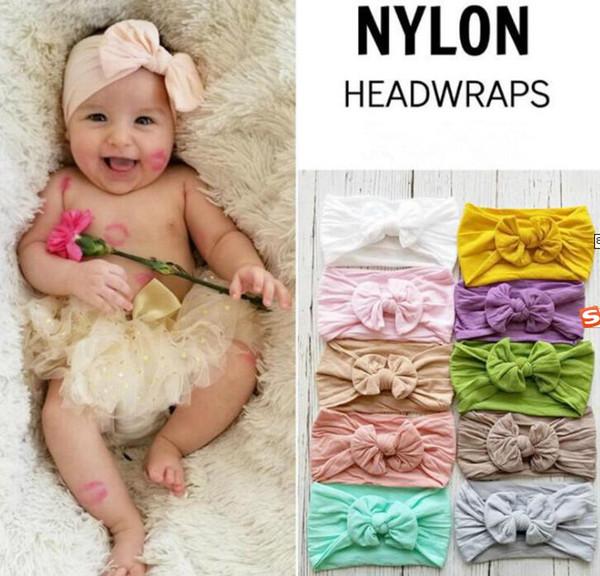 Bandeaux en nylon faits à la main pour enfants nouveau-nés, bandeau en nœud pour cheveux, accessoires de coiffure pour filles, enfants 36pc / lot