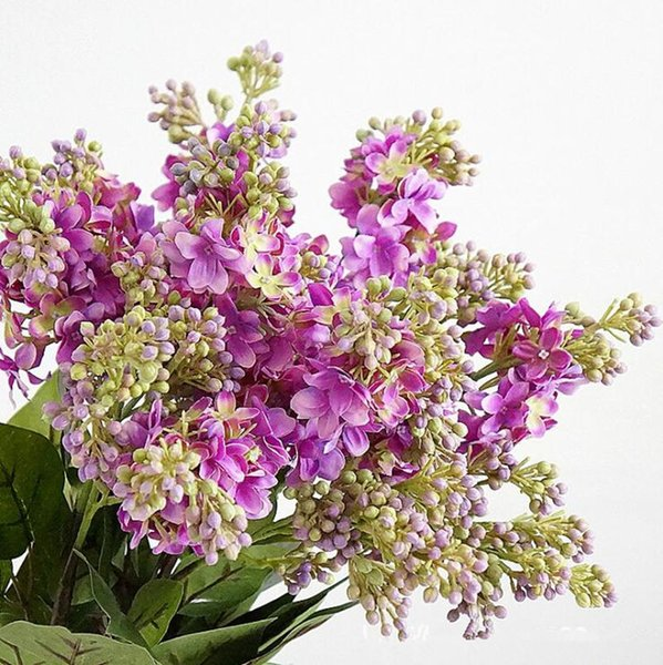 Artificial Lilac flowers beautiful silk flores artificiales for home Wedding DIY decoration Fake hand flower arrangement wreath