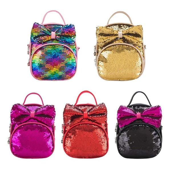 2019 hot selling new Women Sequins Backpacks Teenager Girls Shoulder Bags School Travel Knapsack bags for children girls