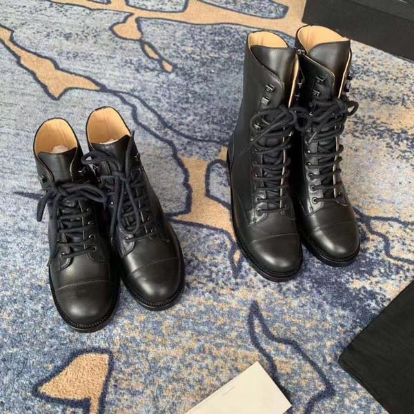 Zapatos de diseño de lujo de estilo europeo botas de moda remache zapatos de mujer botas de moda zapatos de cierre Martin botas con lether