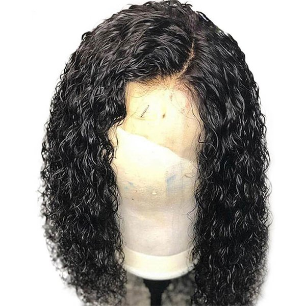 Curly Brazilian Lace Wig For Black Women Pre Plucked Glueless Full Density Virgin Human Hair Curly Full Lace Wigs Baby Hairs