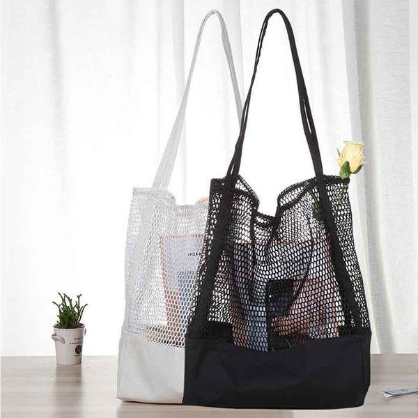 Strand Umhängetasche Lässig Leinwand Aushöhlen Freundliche Shopping Shopper Handtaschen Student Mode Tasche Handtaschen Beutel MMA1737