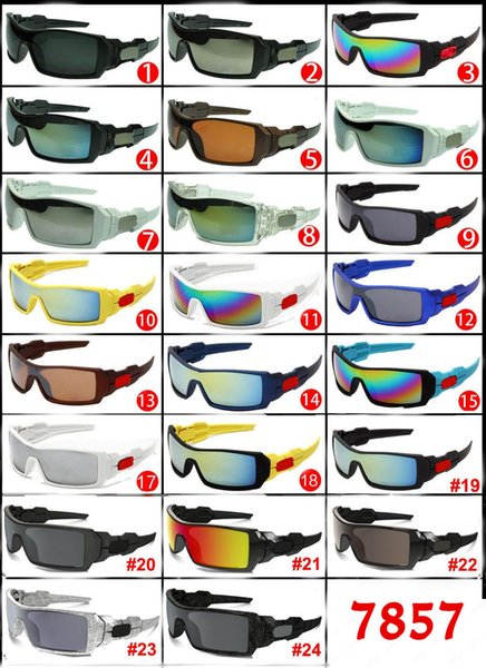 19 Colors 2017 Popular O Designer Sun glasses Eyewear Big Frame Sunglasses Brand Designer Sunglasses for Men and Women Cheap 7857 Sunglasses