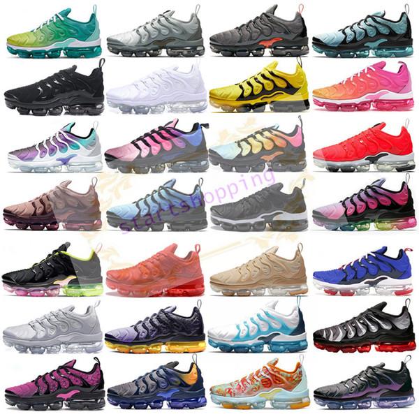 2019 TN Plus metallici Oliva Donne Uomini correnti del mens di lusso Designer Shoes Sneakers SCARPE formatori con la scatola