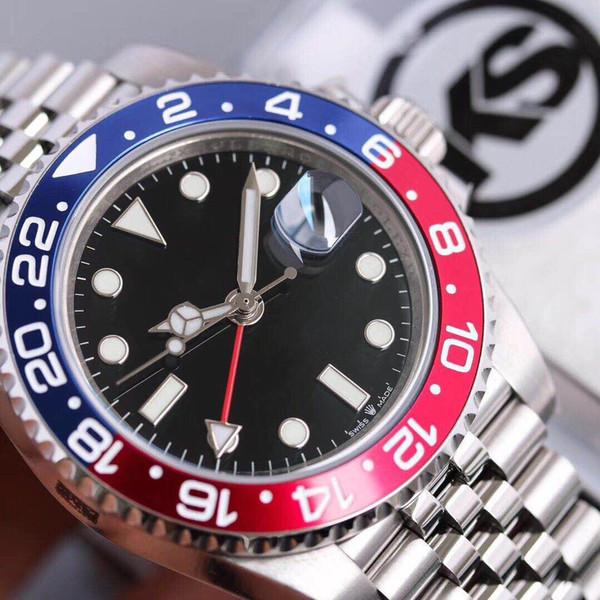 KS Mekanik Watch40mm lüks İzle anti-yansıtıcı dışbükey büyüteç takvim pencere 2836, 3135 otomatik mekanik saatler mens saatler