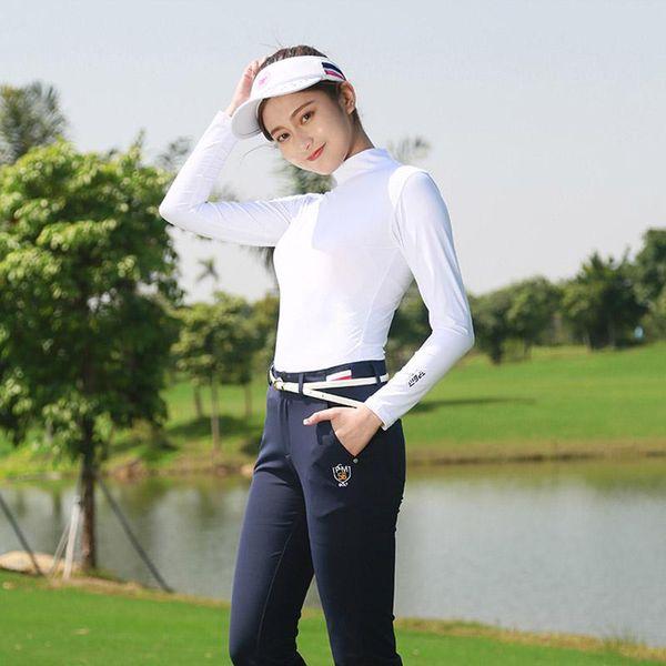 top popular Brand Summer sunscreen Slim Shirt Women full sleeve cool breathable Smooth Sun protection Clothing golf sportswear soft Jerseys 2019