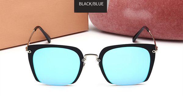 Telaio nero specchio blu