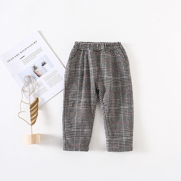 Fashion Baby Boys Pants Winter Autumn Cotton Baby Girls Pants Infant Thick Velvet Warm Elastic Waist Kids Trousers Baby Clothes