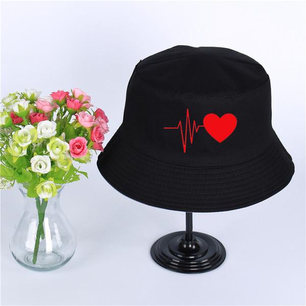 MY Heartbeat Love Logo Hat Women Mens Panama Bucket Hat MY Heartbeat Love Design Fishing Fisherman Hat