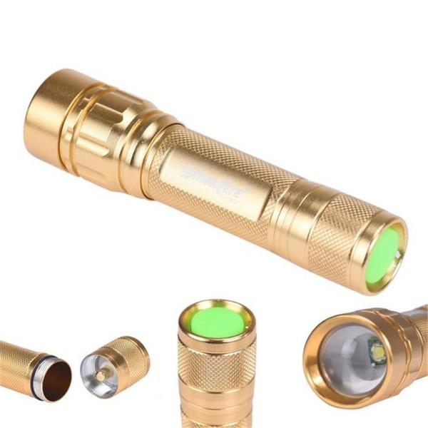Sky Wolf Eye Étanche Zoomable 3000 Lumen 3 Modes XML XPE LED Focus 18650 Lampe Or Lampe de poche # 334086