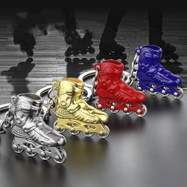 3D Ayakkabı Anahtarlıklar Modeli Anahtarlıklar Tutucu Kadın Paten Erkekler Moda Metal Charm Anahtar Yüzükler Takı Araba Çanta Kızlar için Boy anahtarlık