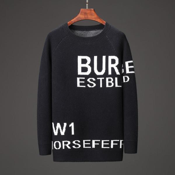 Designer-Luxus-Pullover Herren 2019 Luxus-Kleidung Brief Stickerei Pullover Winter Herren Rundhals Langarm-Pullover neues Angebot 13