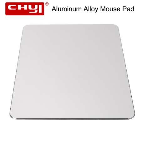 CHYI Aluminum Alloy Metal Slim Large Game Mouse Pad PC Computer Laptop Gaming Mousepad for Apple MackBook Pro Magic Xiaomi Mice