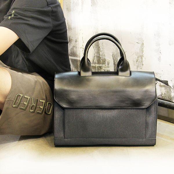 New Design Nylon Canvas Men's Laptop Business Bag 13.3 Casual Men's Travel Bag Handbag Shoulder Messenger Notebook 13