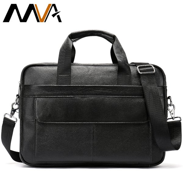 "Messenger Bag Men Leather Men Briefcase Genuine Leather 14""Laptop Case Attache Portfolio Business Briefcase Handbag Shoulder Bag"