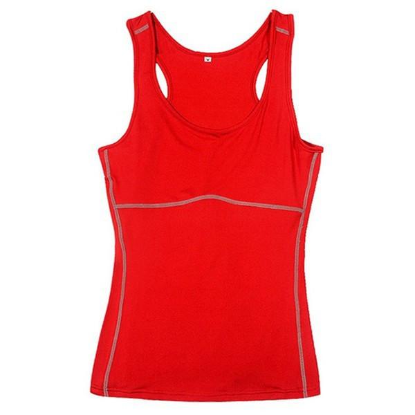 DY9 Mujeres de compresión debajo de la base Ropa deportiva Yoga Camisetas sin mangas Damas Camisas de gimnasio Ropa de running Cami Chaleco Nuevo