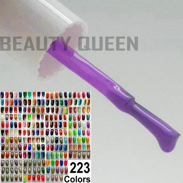 best selling 223 Colors Available ~ 6x Soak-Off Nail Art UV LED gel polish + 1x top coat + 1x base primer coat Soak Off Curing Varnish * HIGH QUALITY *