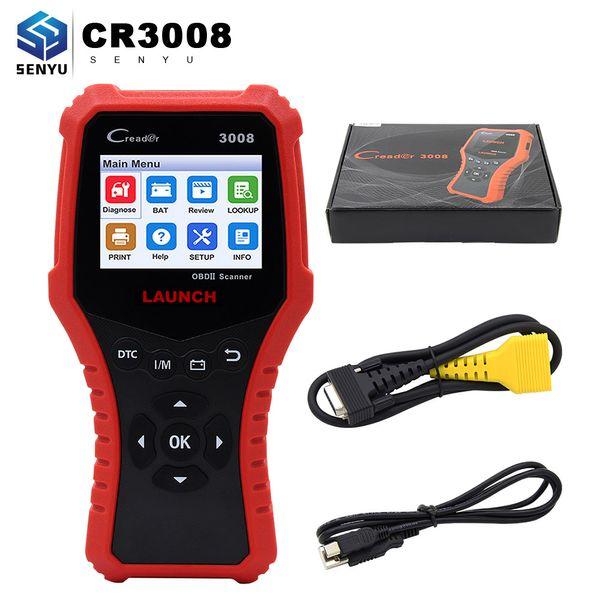 LAUNCH V431 CR3008 OBDII 16 Pin Code Reader Free Update battery I/M VIN test multi-language better than ELM327 V1.5 Auto Scanner