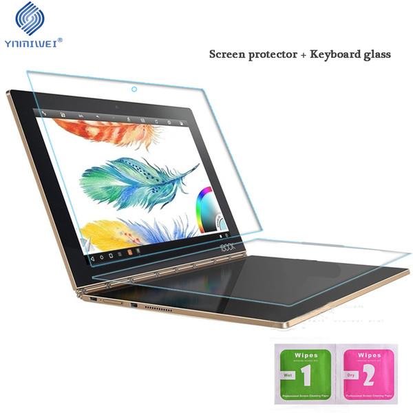 YNMIWEI Für Yoga Book Glass Protector + Tastaturglas Full Cover für Lenovo Yoga Book 10.1 gehärtete Displayschutzfolien