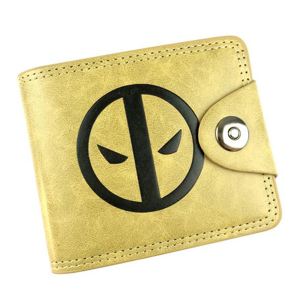 The Marvel PU Leather Short Wallet Deadpool Logo Cartoon Folding Coin Purse Wallet