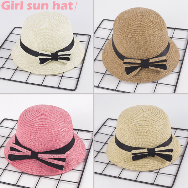Bebê de palha de verão flexível Kids Kids Cap praia Wide Brim Hat Sunhat
