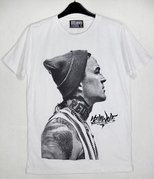 Yelawolf Side Tattoos Michael Wayne Atha Hip hop White Cotton Unisex T-Shirt
