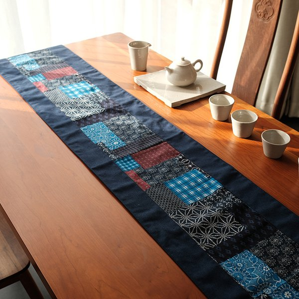 Chinese Classical style Cotton and Hemp Table runner Ethnic style Inn Bed Towel table Tea Towel